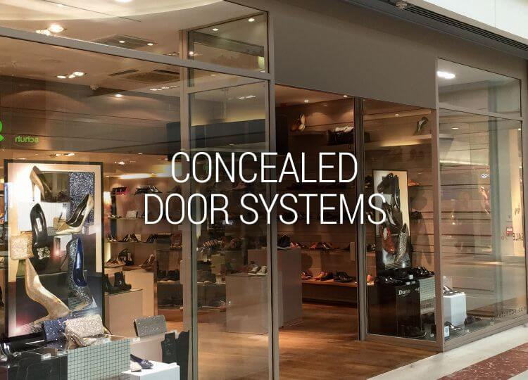 CONCEALED DOOR SYSTEMS